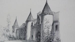 Auray -Entrée du château de Plessis-Kaër